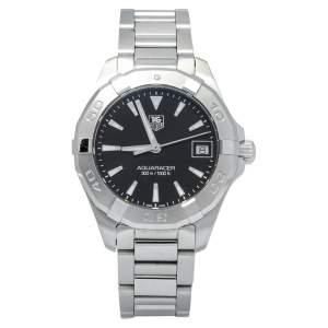 Tag Heuer Black Stainless Steel Aquaracer WAY1310.BA0915 Women's Wristwatch 32 mm