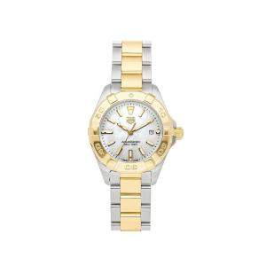 Tag Heuer MOP 18K Yellow Gold And Stainless Steel Aquaracer 300m WBD1420.BB0321 Women's Wristwatch 27 MM