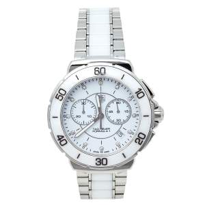 Tag Heuer White Ceramic & Stainless Steel Formula 1 CAH1211.BA0863 Women's Wristwatch 41 mm
