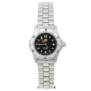 ساعة يد نسائية تاغ هيوير بروفيشنال WK1310 ستانلس ستيل سوداء 29 مم