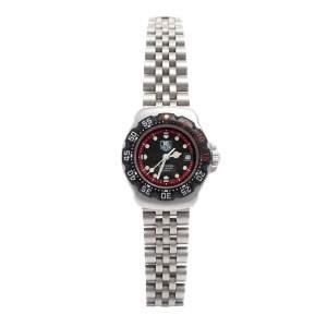 Tag Heuer Black Stainless Steel Professional F1 WA1414 Women's Wristwatch 28 mm