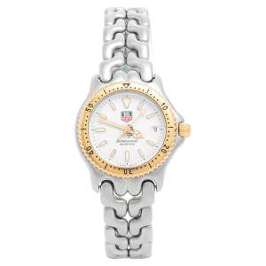 Tag Heuer Silver Two-Tone Stainless Steel Professional S95.813K Women's Wristwatch 34 mm