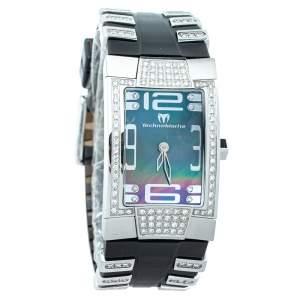 Technomarine Mother Of Pearl Stainless Steel Diamonds DXSL Women's Wristwatch 24mm