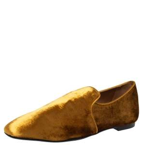 حذاء سليبرز ذا رو سموكينغ قطيفة ذهبي مقاس 38