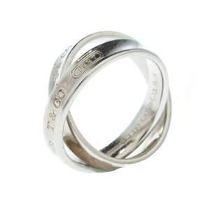 Tiffany & Co. Tiffany 1837 Interlocking Circles Silver Ring Size 50