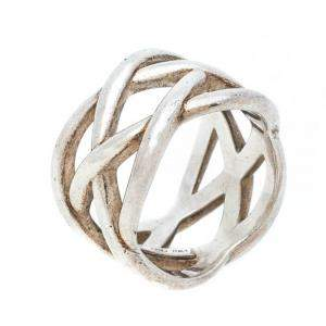 Tiffany & Co Celtic Knot Silver Band Ring Size 51