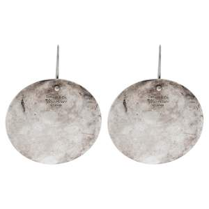 Tiffany & Co. Elsa Peretti Round Drop Silver Earrings