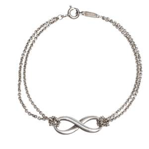 Tiffany & Co. Infinity Silver Chain Link Bracelet