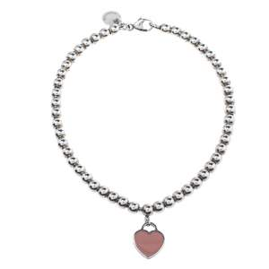 Tiffany & Co. Return To Tiffany Enamel Silver Bead Bracelet