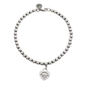 Tiffany & Co. Return to Tiffany Heart Tag Silver Beads Bracelet