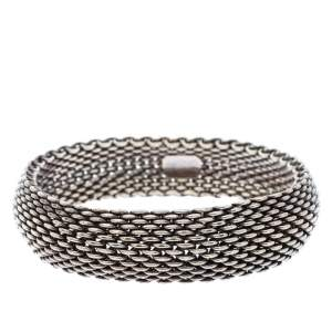 Tiffany & Co. Somerset Silver Mesh Bangle Bracelet