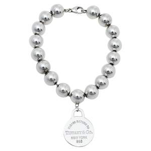 Tiffany & Co. Sterling Silver Return to Tiffany Round Tag Bead Bracelet