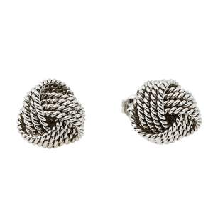 Tiffany & Co. Tiffany Twist Knot Silver Stud Earrings