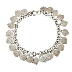Tiffany & Co. Sterling Silver Multi Mini Heart Tags Bracelet