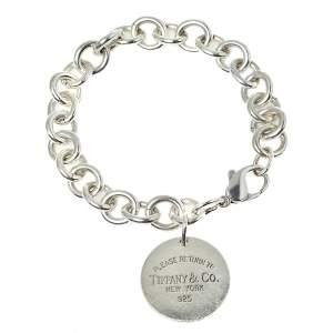 Tiffany & Co. Sterling Silver Return to Tiffany Circle Charm Bracelet