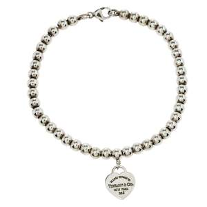 Tiffany & Co. Return to Tiffany Heart Tag Sterling Silver Beads Bracelet