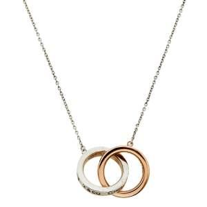 Tiffany & Co. Tiffany 1837 Interlocking Circles Sterling Silver and Rubedo Pendant Necklace