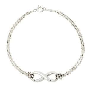 Tiffany & Co. Infinity Sterling Silver Double Chain Bracelet