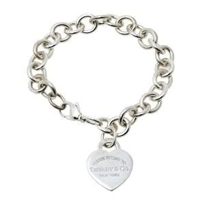 Tiffany & Co. Return to Tiffany Heart Tag Sterling Silver Charm Bracelet