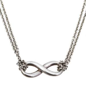 Tiffany & Co. Infinity Sterling Silver Double Strand Pendant Necklace
