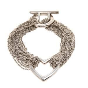 Tiffany & Co. Sterling Silver Heart Mesh Bracelet