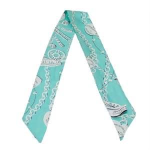 Tiffany & Co. Blue Return To Tiffany Print Silk Twilly