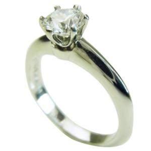 Tiffany & Co. 0.53 ct. Diamond Platinum Ring Size 45