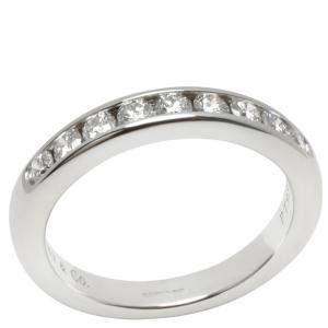 Tiffany & Co. Channel Set 0.33 CTW Diamond Platinum Wedding Band Ring Size 47