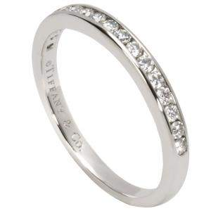 Tiffany & Co. Classic Channel 0.23CTW Diamond Platinum Band Ring Size 48