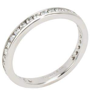 Tiffany & Co. Eternity 0.56 CTW Diamond Platinum Band Ring Size 54