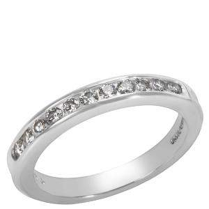 Tiffany & Co. 0.22 CTW Diamond Platinum Wedding Band Ring Size 48