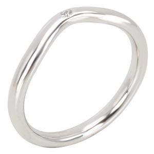 Tiffany & Co. Elsa Peretti 0.02 CTW Diamond Platinum Band Ring Size 49