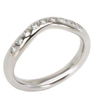 Tiffany & Co. Elsa Peretti 0.06 CTW Diamond Platinum Band Ring Size 48