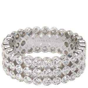 Tiffany & Co. Jazz 2.13 CTW Diamond Platinum Ring Size 54