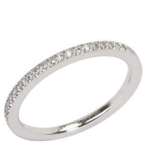 Tiffany & Co. Lucida Eternity 0.20 CTW Diamond Platinum Band Ring Size 48