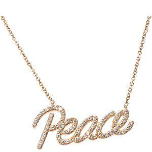 Tiffany & Co. Paloma Picasso Graffiti Peace 18K Rose Gold 0.21 ctw Diamonds Pendant Necklace