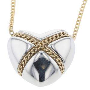 Tiffany & Co. Combi Heart 18K Yellow Gold Silver Necklace