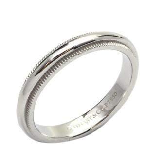 Tiffany & Co. Milgrain Platinum Ring Size 53