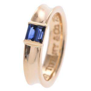 Tiffany & Co. Stacking Sapphire 18K Yellow Gold Ring Size 49