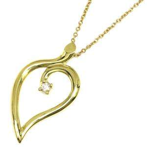 Tiffany & Co. Heart Leaf 18K Yellow Gold Necklace