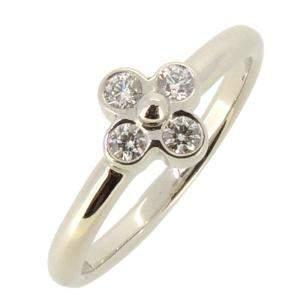 Tiffany & Co. Lace Platinum Diamond Ring Size 48