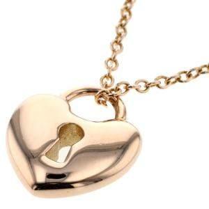 Tiffany & Co. Miniloc Heart 18K Rose Gold Necklace