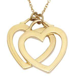 Tiffany & Co. Sentimental Heart Double Twin 18K Rose Gold Necklace