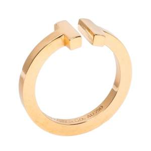 Tiffany & Co. T Square 18K Rose Gold Ring 55