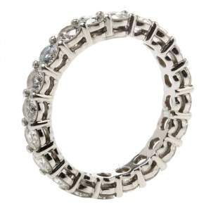 Tiffany & Co. Tiffany Embrace Diamond Platinum Eternity Band Ring 46
