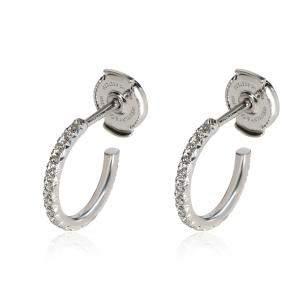 Tiffany & Co. Metro 18K White Gold Diamond Hoop Earrings