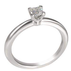 Tiffany & Co.  Solitaire Diamond Platinum Engagement Ring 51