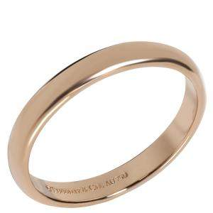 Tiffany & Co. Lucida 18K Rose Gold Wedding Band Ring Size 56