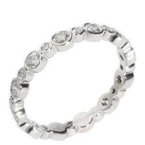 Tiffany & Co. Platinum and Diamond Jazz Band Ring Size EU 50