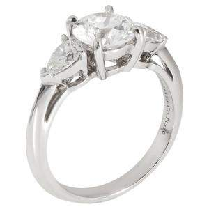 Tiffany & Co. Platinum 1.67 CTW Three-Stone Diamond Engagement Ring